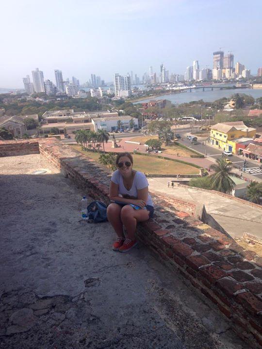 Vista do castelo e eu, claro, na sombra!