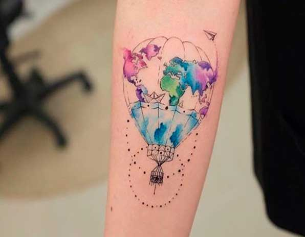 Tatuagem Balao As Viagens De Trintim